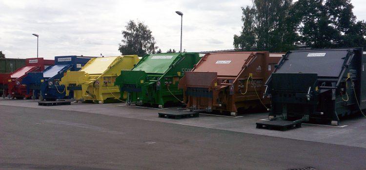 Naabtaler Milchwerke Schwarzenfeld – Presscontainer HGS-20 mit integrierter Hub-Kipp Vorrichtung
